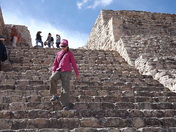 Cañada de la Virgen Pyramid steps