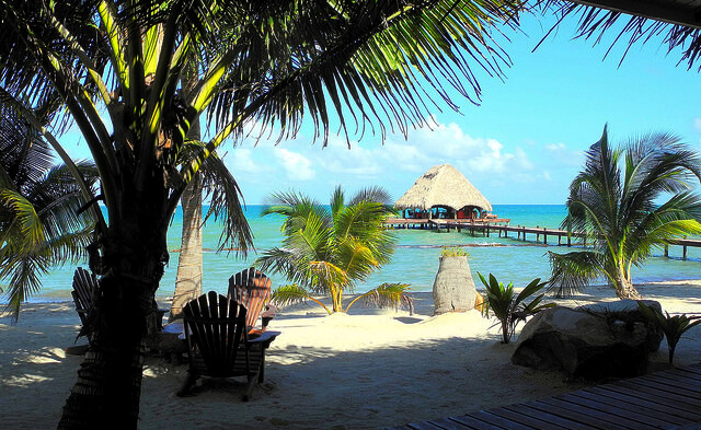 Belizean hotel beach