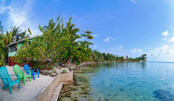 South Water Caye by Yacht
