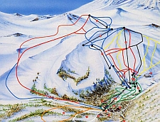 Termas de Chillan Ski Run Routes