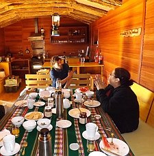 glamping tour dining room