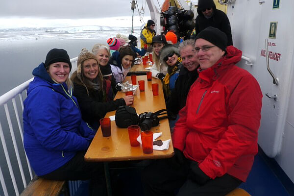 A down-to-earth group on AntarcticaXXI's tour