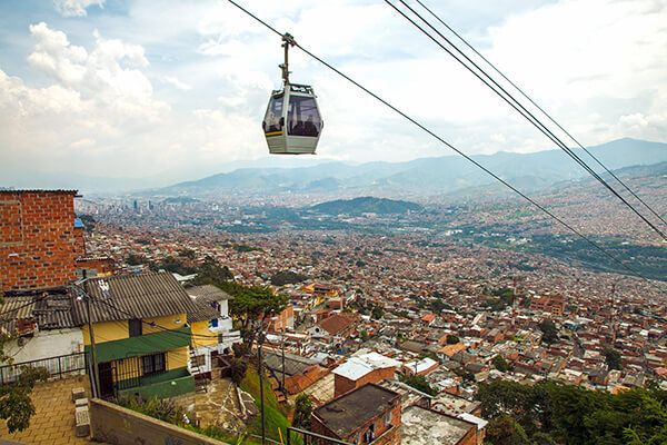 Colombia cable car