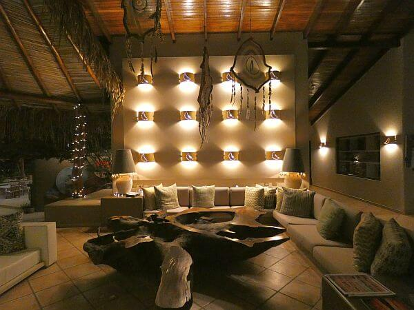 Cala Luna Luxury Boutique Hotel lobby at night