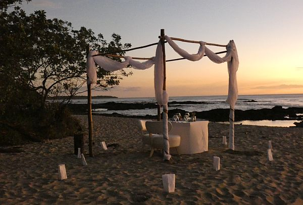 private beach dinner Tamarindo Costa Rica