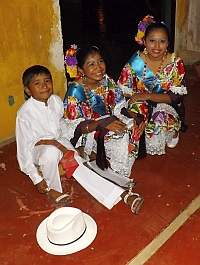 Child dancers in the Yucatan