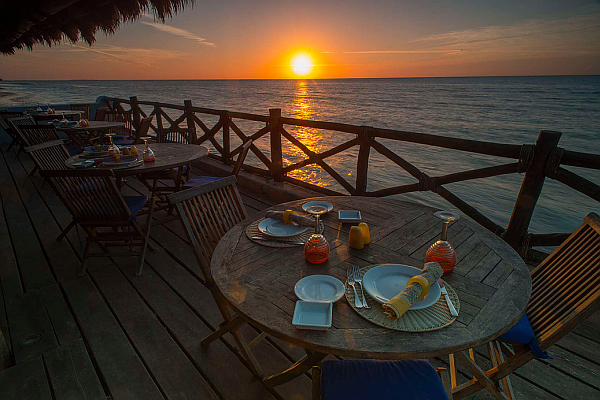 Dining at Las Nubes Holbox