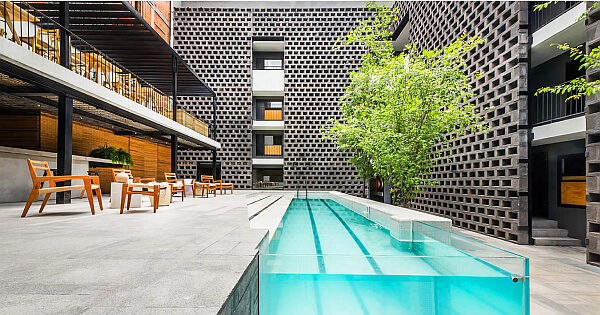 Pool at Carlota Hotel in Mexico City
