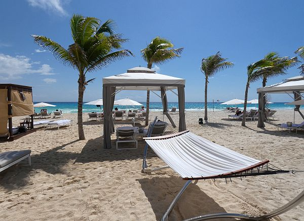 Beachside in Cancun