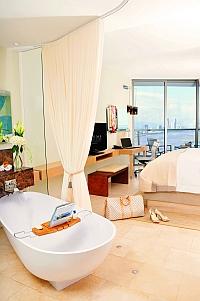 Trump Ocean Club Hotel Bathroom and Room