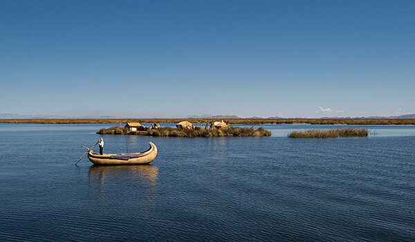 Boat trip on Lake Titicaca, Peru